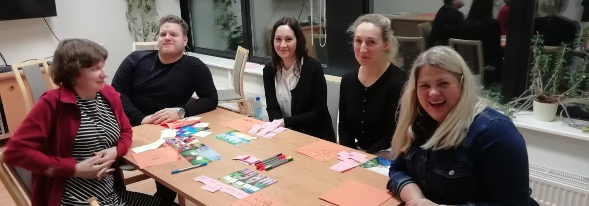 Multilingua õpetajad 2020. aasta kevadtalvel õpetajate arenguprogrammi kohtumisel. Fotod: Multilingua Multilingua õpetajad 2020. aasta kevadtalvel õpetajate arenguprogrammi kohtumisel